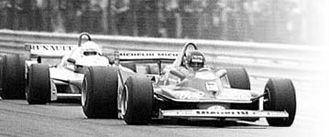Villeneuve and Arnoux passed each other six times and were never more than a car length apart in the closing laps of the 1979 Grand Prix of France.