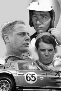 Jim Hall (top), Augie Pabst (left) and John Cannon all took their turns at the wheel during the 1963 Nassau Speed Week.