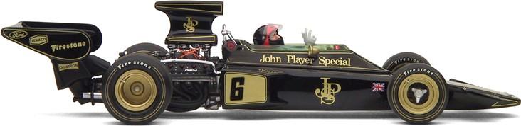 Lotus da década de 1970, modelo 1972 72D, apresentando a evolução das regras e regulamentos da Formula 1 - foto exoto.com
