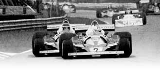 Carlos Reutemann (behind) and teammate, Clay Regazzoni, in the early laps.