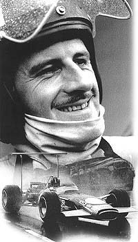 Graham Hill racing to second place at Watkins Glen.