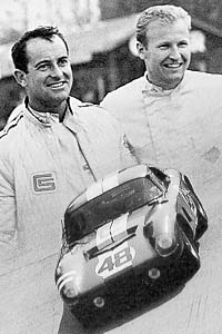 Bondurant (left) and Grant cruised to victory, unchallenged on the banked Monza circuit.
